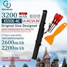 A41-X550E 3200mAh 14.8V Bateria Do Portátil para ASUS x550e X450 X450J A450V A450 F450 X450E A450J F450E F450JF F450C X751L X751M