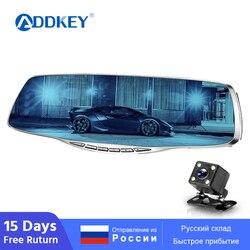 Автомобильный видеорегистратор ADDKEY, зеркало заднего вида, Автомобильные видеорегистраторы с двумя объективами, видеорегистратор, видеока...