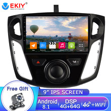 EKIY 9'' 2 DIN IPS Car Radio For Ford Focus 3 2012-2015 Car Radio Multimedia Video Player Navigation GPS Android 8.1 4G+64G DVD(China)