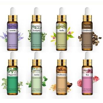 10ml Lavender Eucalyptus Essential Oil Diffuser Pure Natural Essential Oils Rose Jasmine Vanilla Mint Tea Tree Oil Shea Butter