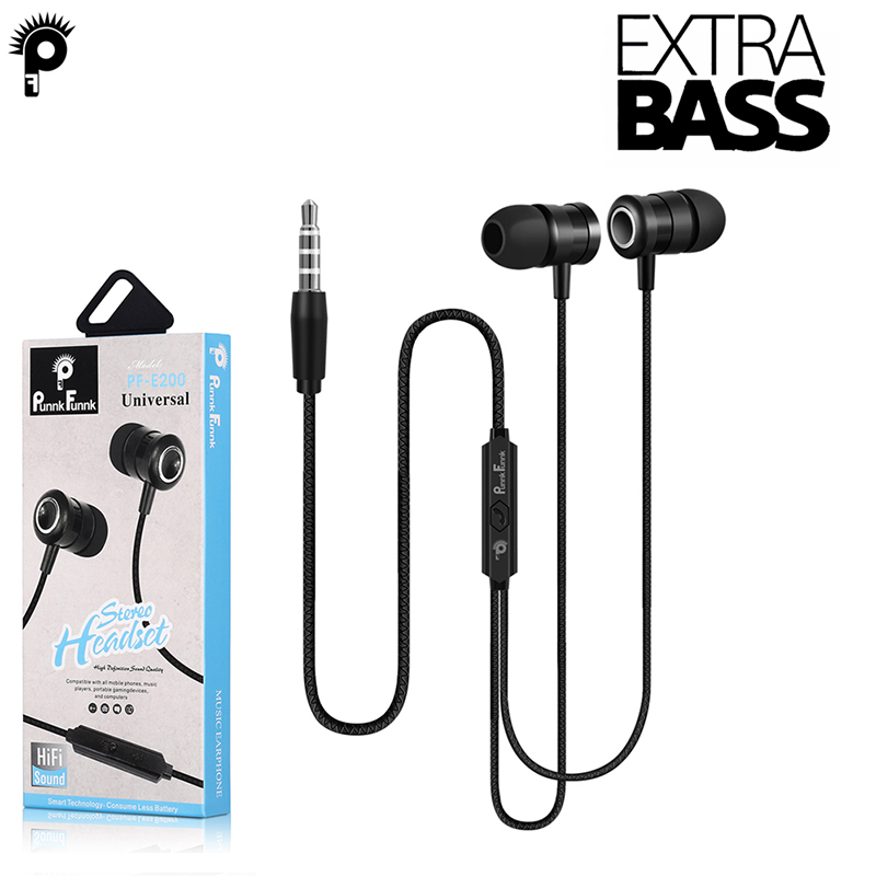 PunnkFunnk Hifi Bass Stereo Earphones Wired Sport headsets with mic for iPhone <font><b>5</b></font>,6,7,8 X XR XS Samsung J3 J5 J7 A3 A5 A8 S8 S9 image