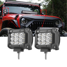 цена на ECAHAYAKU 4 inch 27W 6000K Tri-Row LED Light Bar Spot Beam For Offroad Work Light pickup Truck ATV SUV 4WD 4X4 Led Bar 12V 24V