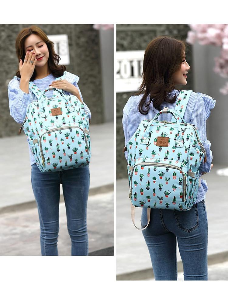 Atinfor Travel Backpack Cactus-Diaper Large-Capacity Green Nappy-Bags Waterproof Brand