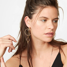 Vintage Hyperbolic Irregular Geometric Round Circle Dangle Drop Women's Earrings 2019 серьги Fashion Jewelry Bohemia-YSF