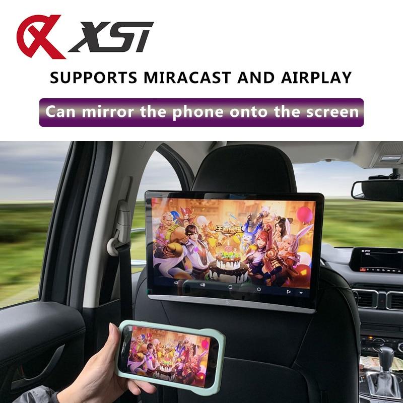 12.5 pouces Android 9.0 voiture appuie-tête moniteur 1920*1080 4K 1080P écran tactile WIFI/Bluetooth/USB/SD/HDMI/FM/miroir/Miracast