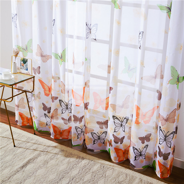 Butterfly Sheer Curtains 2