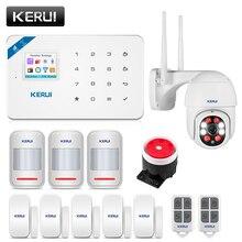 Kerui w18 sistema de alarme para alarme de segurança em casa residencial sensor de movimento controle app inteligente gsm wi fi assaltante sistema de alarme kit