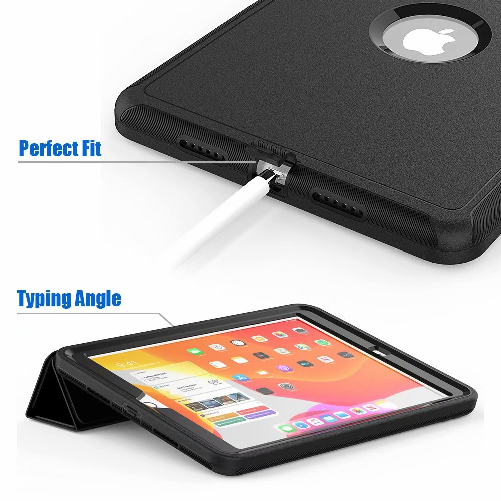 For iPad 10 2 2019 smart Shockproof Armor Kickstand Case For ipad 7th generation case 10