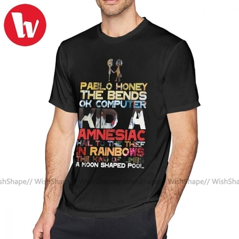 Arctic Monkeys T Shirt Radiohead Albums T-Shirt Fashion 100 Percent Cotton Tee Shirt Short Sleeves Graphic Fun 6xl Mens Tshirt arctic monkeys arctic monkeys favourite worst nightmare