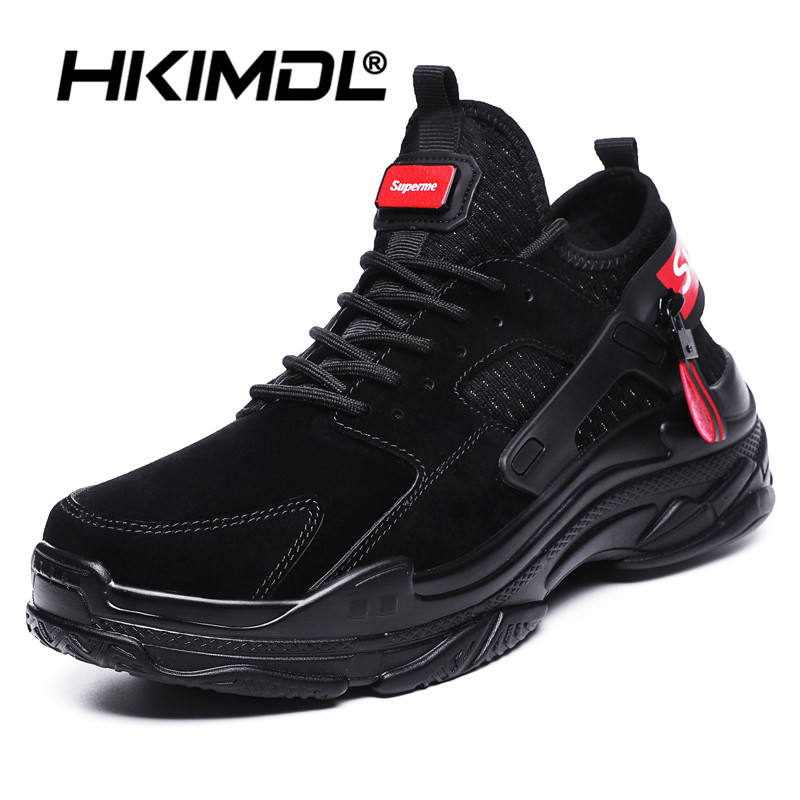 HKIMDL 2020 Hot Casual Men Shoes Lightweight Blade Running Shockproof Lack Up Breathable Men Sneakers Height Increase Walking