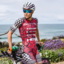 LOVE THE PAIN Women red cycling clothing Custom ciclismo maillot suit jumpsuit bicycleracingapparel trialthon