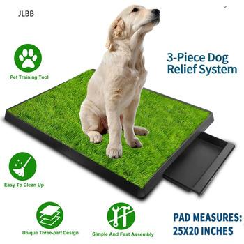 Kuweta dla zwierzaka kuweta Pad nocnik 3 warstwy szkolenia trawa syntetyczna kosz z siatki dla psów kryty użycie na zewnątrz tanie i dobre opinie Skrzynki na śmieci CN (pochodzenie) Litter Potty Dog Potty Pad Green and White Plastic Odor Resistant Mat Mesh Tray Collection Tray