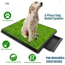 Pet Toilet Litter Box Pad Potty 3 Layer Training Synthetic Grass Mesh Tray for