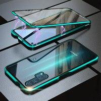 Metallo magnetico Doppio Cassa di Vetro Per Huawei Honor 10 Lite Custodie Fundas Honor 20 30 Pro Plus 10i 8X 9X 9C 20i 20S X10 Copertura Coque