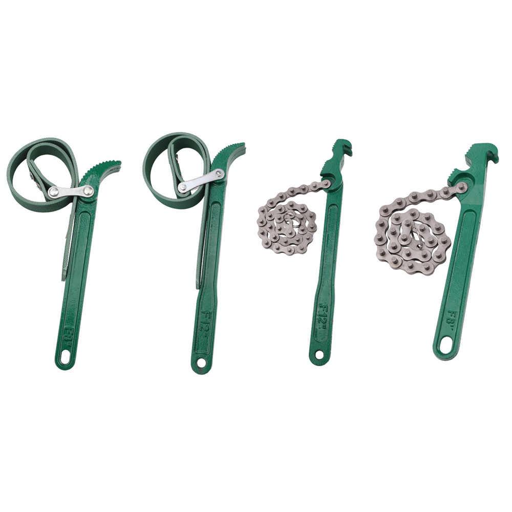 1pc 8-12 cal filtr oleju łańcuch do paska klucz narzędzia samochodowe skrzynia silnika oleju paliwa filtr klucze klucz do usuwania narzędzi ręcznych