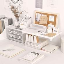 Nie styl z nadrukiem prosty składany stojak do przechowywania biurko do nauki bariera powierzchniowa podwyższone konto ręczne stojak na śmieci biurowe