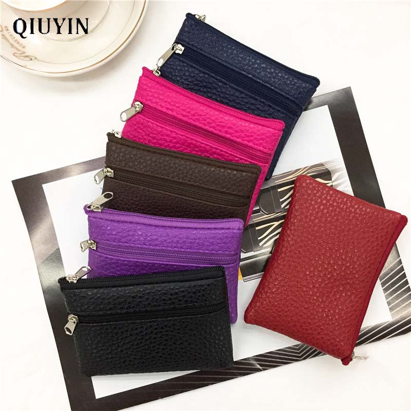 Designer Korean Mini Wallet Cute Purse Women's/female Wallet Money/coins Purse Short Bag Thin Bag Leather Wallet Zipper Purse
