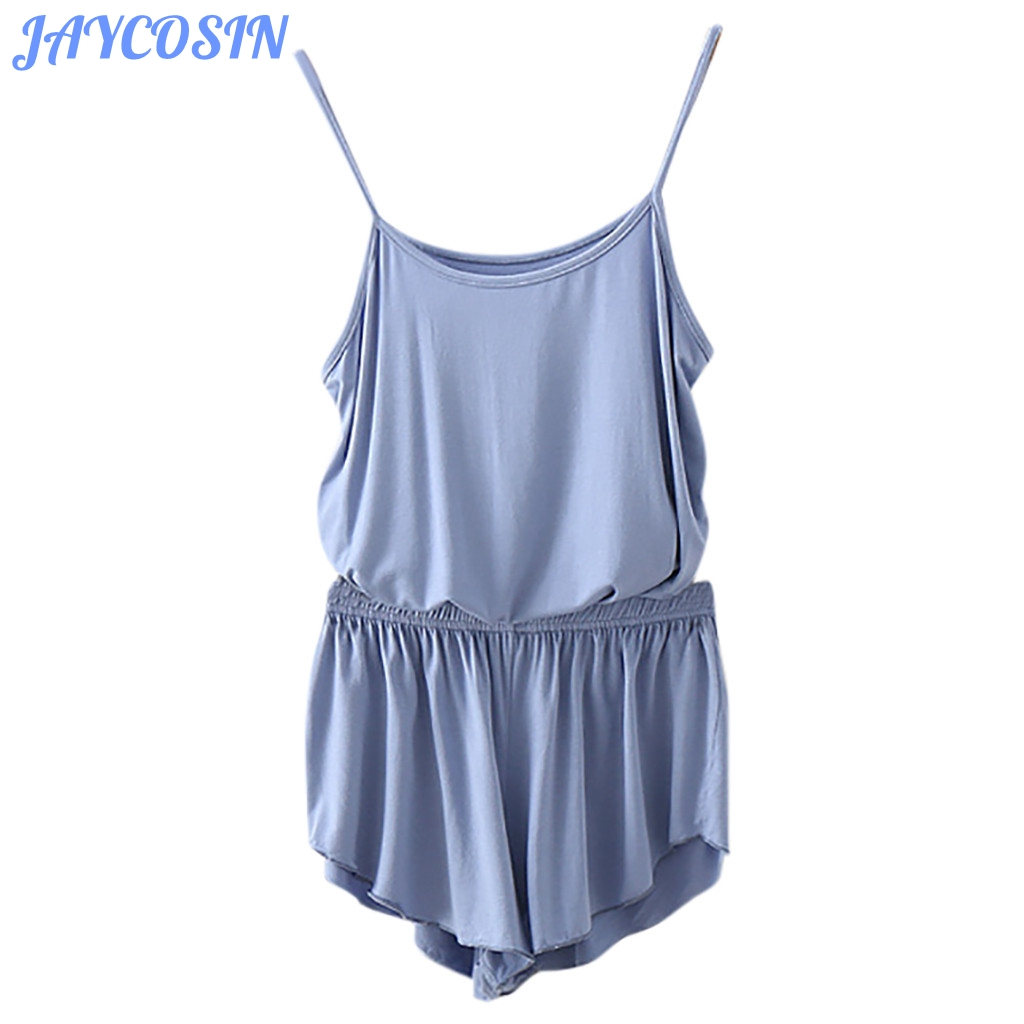 JAYCOSIN Fashion Women Set Clothes Sexy Sling Vest O-Neck Sleeveless Tops And Loose Pant Matching Sets Pajamas Outfits