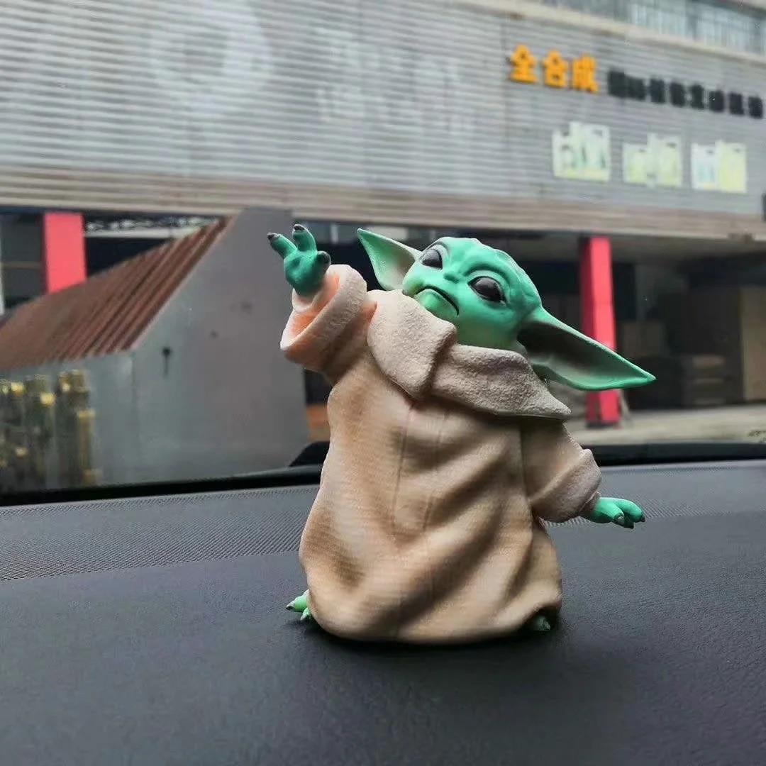 Star War Mandalorian Little Baby YODA Statue 8cm Figure Toys