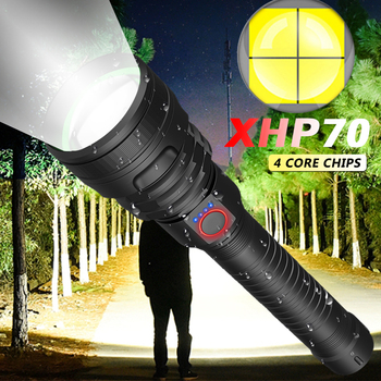 led flashlight Most Powerful xhp70.2 most powerful 26650 usb torch xhp70 xhp50 lantern 18650 hunting lamp hand light