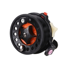 Plastic Fly Fishing Reels Tackle Round Wheel Accessories ocean lake river pond fishing right-hand reel