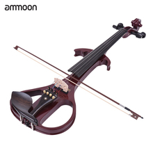 Ammoon Violin Tailpiece Fingerboard Fiddle Solid-Wood Maple Ebony with Bow Hard-Case