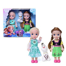 Frozen 2 Elsa Anna Olaf Collection Action Figure Model Dolls Hot Toys Christmas New Year Gift for Girls(China)