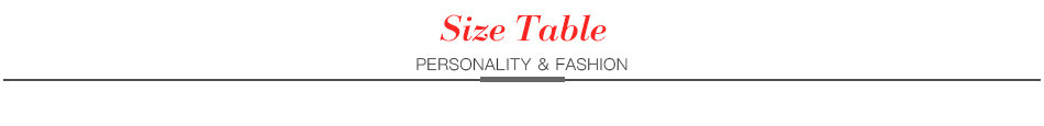 Tianbo ----Size Table