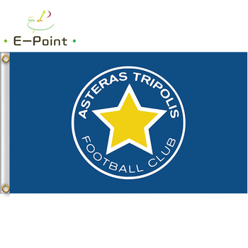 Flag of Greece Asteras Tripoli F.C. 3ft*5ft (90*150cm) Size Christmas Decorations for Home Flag Banner Gifts image