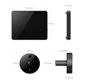 Image 4 - Xiaomi MIJIA 720P 161° FHD Wireless Smart Cat eye Video Doorbell with 5inch Touch Screen AI Face & PIR Movement Detection 5000m