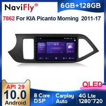 6G 128G Android 10 Qled 4G Lte Autoradio Multimidia Video Speler Voor Kia Picanto Ochtend 2011 2012 2013 2014-2016 Navigatie Gps