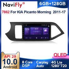 6G + 128G Android 10 QLED 4G LTE Auto Radio Multimidia Video Player Für KIA PICANTO Morgen 2011 2012 2013 2014-2016 Navigation GPS