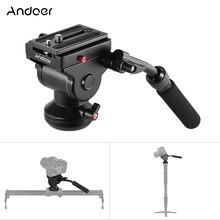 Andoer Video Camera Statief Actie Fluid Drag Pan Hoofd Hydraulische Panoramisch Fotografische Hoofd Voor Canon Nikon Sony Dslr Camera