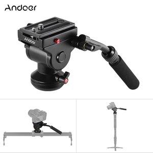 Image 1 - Штатив Andoer для видеокамеры, гидравлическая панорамная Экшн камера с панорамным тормозом для Canon, Nikon, Sony, DSLR