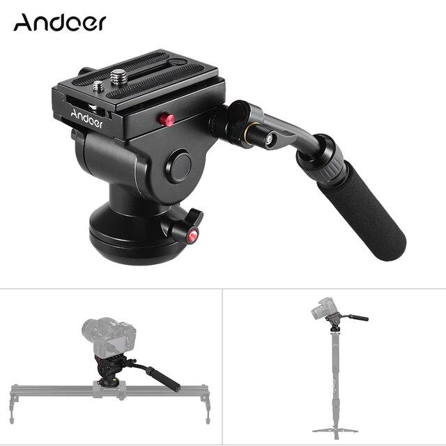 Штатив Andoer для видеокамеры, гидравлическая панорамная Экшн камера с панорамным тормозом для Canon, Nikon, Sony, DSLR