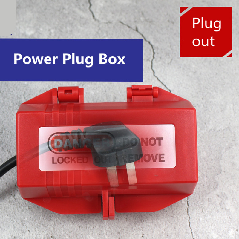 Electrical Appliance Large Plug Lockout Tagout Box Lock Device Safety LOTO Tool For Power Plug