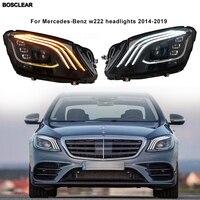 2pcs Head Lamp for BENZ W222 Headlights 2014/15/16/17/18/2019 S350 S400 W223 LED Headlight DRL Hid Bi Xenon Auto Accessories