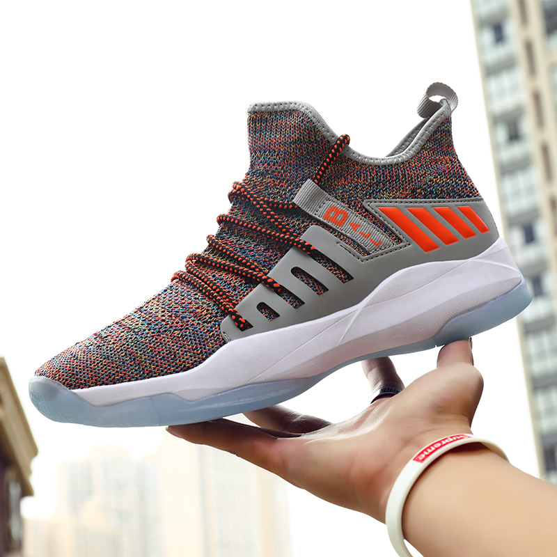 Men Basketball Shoes Men Basket Sneakers Male Ankle Boots Weaving Mens Basketball Trainers Shoes Anti-slip Basketbol Ayakkabi