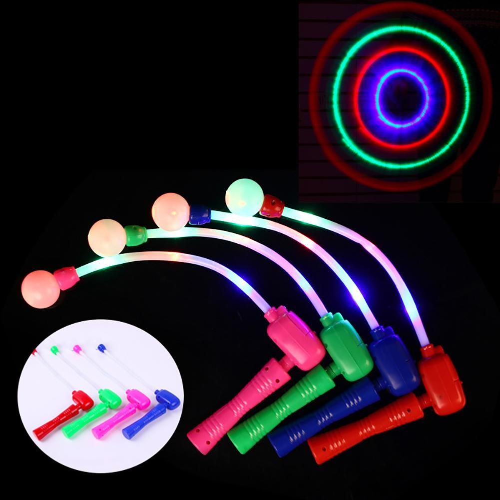 1 Pcs Light Up Wand LED Glowing Flash Music Throwing Stick Flicker Wand Party Supplies Toy For Kids Birthday Christmas Gift
