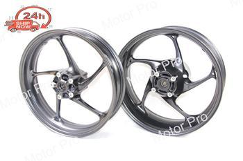 For Triumph Daytona 675 R 2013 2014 2015 Front Rear Wheel Rim Set Motorcycle Accessories CNC Aluminum Black Street Triple 675R
