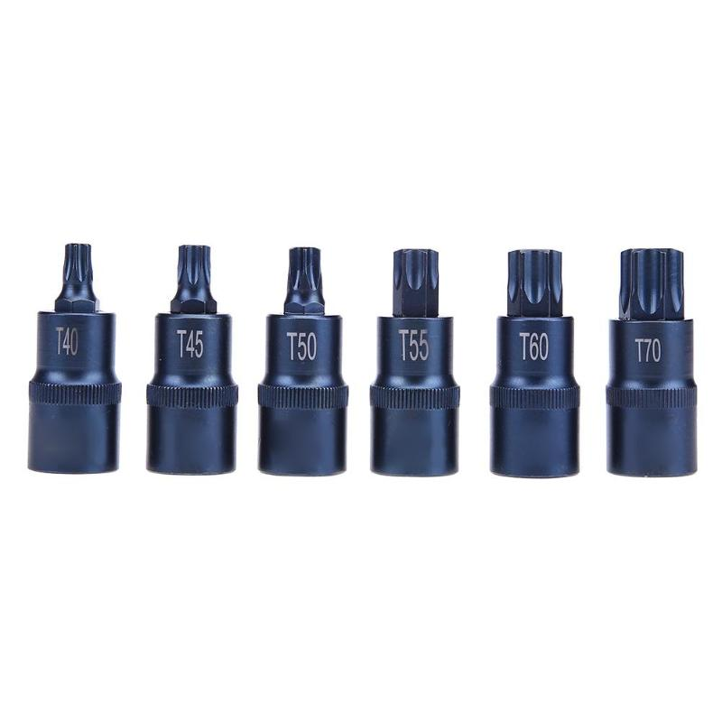 1/2 Torx Screwdriver Socket Bits Adapter T30 T35 T40 T45 T50 T555 T60 T70 Drive Socket Repair Hand Tool