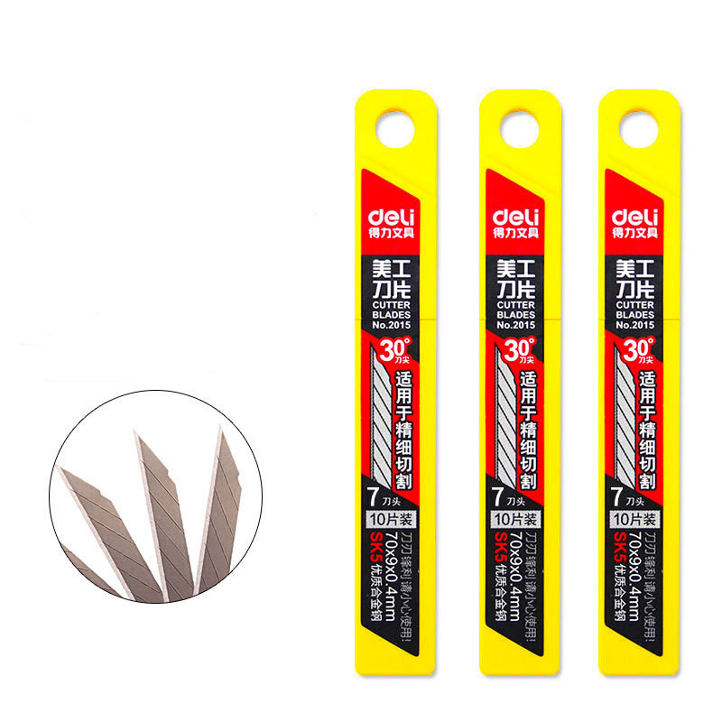 10pcs/pack 9MM Utility Knife Blades Low Carbon Alloy Steel Paper Office Stationery Art Paper Cutting DropShipping