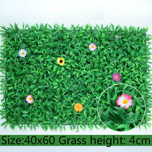 Image 5 - 40x60cm Artificial Green Plant Lawns Carpet for Home Garden Wall Landscaping Green Plastic Lawn Door Shop Backdrop Image Grass