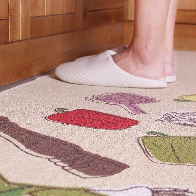 50x80CM + 50x160CM Long tapis de cuisine anti-dérapant aspiration huile Polyester coton tapis de cuisine tapis de sol 2 pièces/ensemble