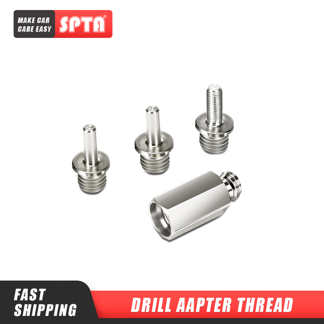"""SPTA Drill Aapter Thread For Polishing pad & Hook Loop Backer Plate Backing Pad & Polisher 5/8"""" or M14 Thread 1Pc    Select One"""