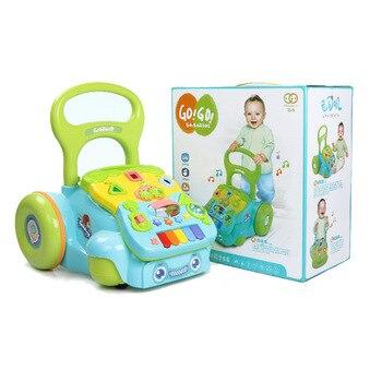 Baby Walkers Toddler Learning Walk Music Toys Children Anti-rollover Trails walker baby Stroller Walker toy hand car 3-18 Months