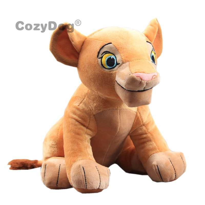 27CM Simba aslan kral peluş oyuncaklar yeni film Simba yumuşak doldurulmuş hayvanlar Nala bebek çocuk doğum günü noel hediyesi
