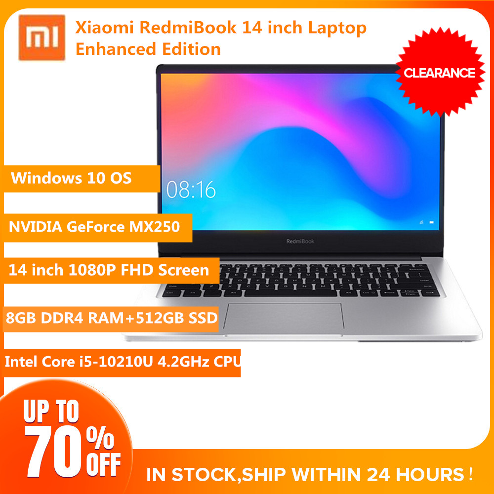 Xiaomi RedmiBook 14 Laptop Windows 10 Intel Core I5-10210U 8GB DDR4 RAM+512GB SSD 1920x1080 BT5.0 Notebook