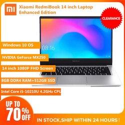 Xiaomi RedmiBook 14 Laptop Windows 10 Intel Core i5-10210U 8GB DDR4 RAM + 512GB SSD 1920x1080 BT5.0 Notebook