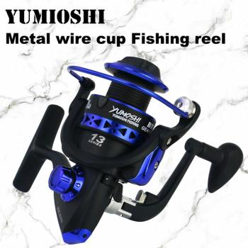 YUMOSHI Fishing Reel Metal Spool Spinning Reel 8KG Max Drag Carp Fishing Reel 1000-7000 Series Fishing Wheel For Fishing Reels ice fishing reels ball bearings high quality reels mini fishing carp fishing reel spool fishing tackle gear